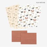 Play with me - Present your heart daily letter paper and envelope set