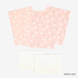 Swan lake - Present your heart daily letter paper and envelope set