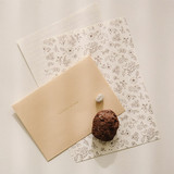 Present your heart daily letter paper and envelope set