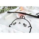 Hi - Molang zip lock medium pouch ver2