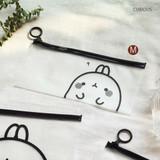 Curious - Molang zip lock medium pouch ver2