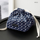 Angle - Comely pattern cube drawstring pouch