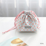 Petal - Comely pattern cube drawstring pouch
