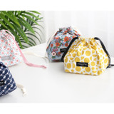 Comely pattern cube drawstring pouch