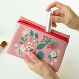 Flower blossom - Du dum joyful illustration zipper pouch