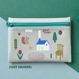 Cozy squirrel - Du dum joyful illustration zipper pouch