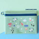 Awesome bird - Du dum joyful illustration zipper pouch