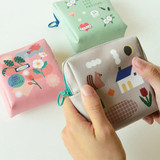 Du dum charming illustration zipper pouch