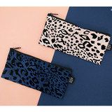 Leopard pattern zipper pencil case