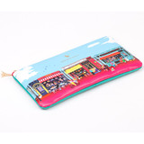 Paris multi zipper pencil pouch