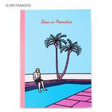 Slow paradise - Lazy lounge retro lined notebook