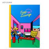 Lazy lounge - Lazy lounge retro lined notebook