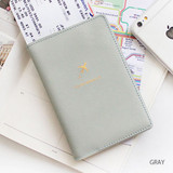 Gray - Think about soft RFID blocking passport cover