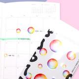 Rainbow - Bubble bubble PVC deco sticker