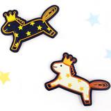 Pony leather sticker
