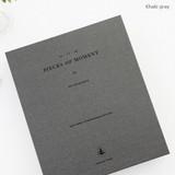 Khaki gray  Piece of moment memory 3 ring binder