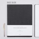 Black - Draw your sketch premium drawing notebook