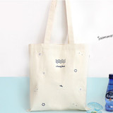 Pit a pat sandy beach eco tote bag