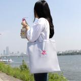Flamingo swimmer eco tote bag