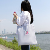 Flamingo swimmer eco tote bag