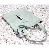Lazy holiday penguin eco tote bag