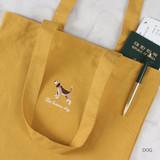 Dog - Tailorbird animal space shoulder tote bag