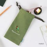 Parrot - Tailorbird animal long drawstring pouch