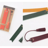Detail of The Classic leather bookmark with Tassel