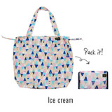 Ice cream - Tropical travel foldable island shoulder bag