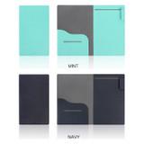 Mint, Navy - Premium business notepad holder