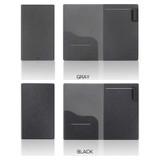 Gray, Black - Premium business notepad holder