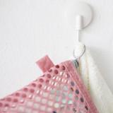Detail of Som Som stitch mesh zipper pouch