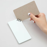 Corner small spiral lined/Grid notepad