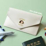 Ivory - Du dum travel envelope passport case wallet