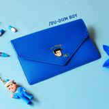 Blue - Du dum travel envelope passport case wallet