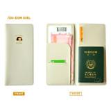 Ivory - Du dum travel RFID blocking long passport case