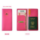Pink - Du dum travel RFID blocking long passport case
