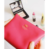 Hot pink color pouch