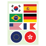 Flag PVC point sticker