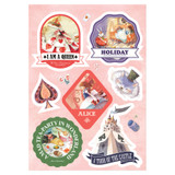 Alice PVC water resistant point sticker