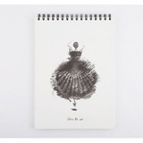 Above the sea spiral A4 Size drawing notebook