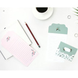 D - From letter paper and envelope set