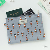 Cone - Jam Jam cute illustration pattern zipper pouch