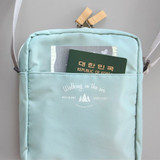 Mint - Voyager double zippered crossbody bag