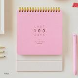Pink - Last 100 days spiral undated planner