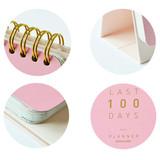 Detail of Last 100 days spiral undated planner