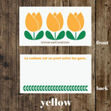 Yellow - Tulip pattern small memo card