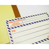 Post 2 colors large label sticker set