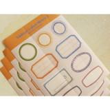 Detail of Vintage label deco sticker ver.2