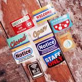 Decorative sign sticker set